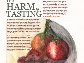 The Harm of Tasting